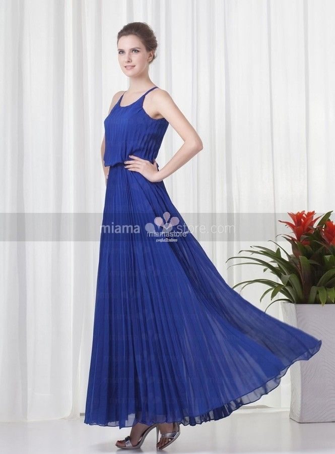 lea-bridesmaid-cheap-princess-ankle-length-chiffon-low-round-scooped-neck-wedding-party-dress