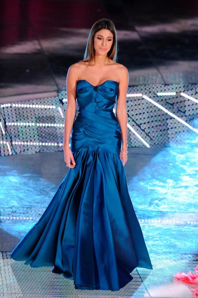 Abito da Cerimonia Blu Belen Rodriguez