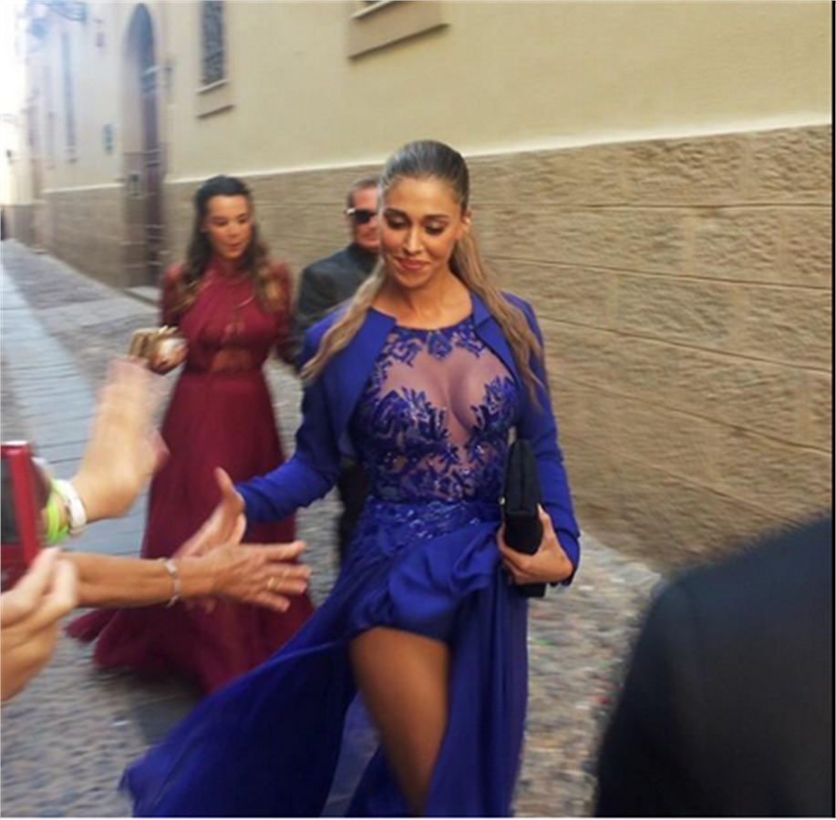 best cheap 49573 0dccc Abiti da Sposa e Cerimonia di Belen Rodriguez - Blog MiamaStore
