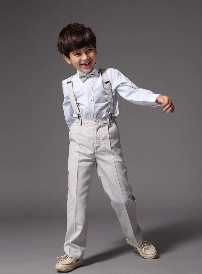 abito-per-paggetto-grigio-chiaro-comprende-pantaloni-camicia-bretelle-e-papillon