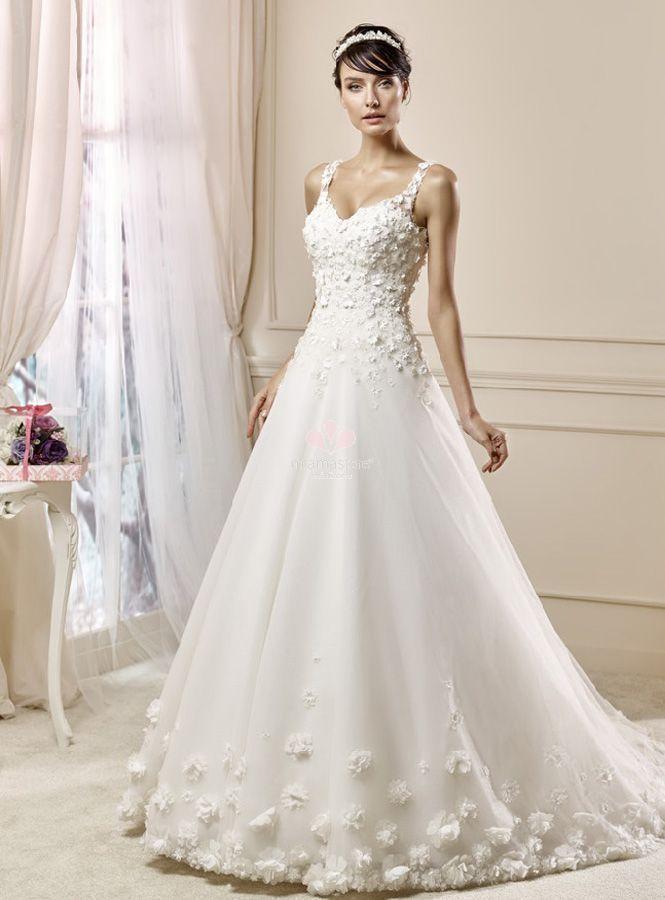 9085952a33ad abito-da-sposa-a-line-economico-con-bretelle - Blog MiamaStore