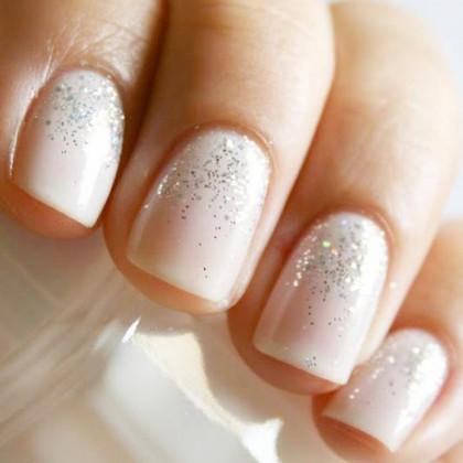 nail-art-sposa-manicure-glitter