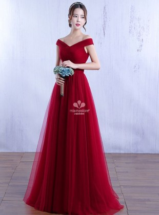 abiti-delle-damigelle-d-onore-rossi-lunghi