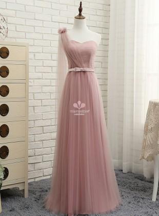 abiti-delle-damigelle-d-onore-rosa-lunghi