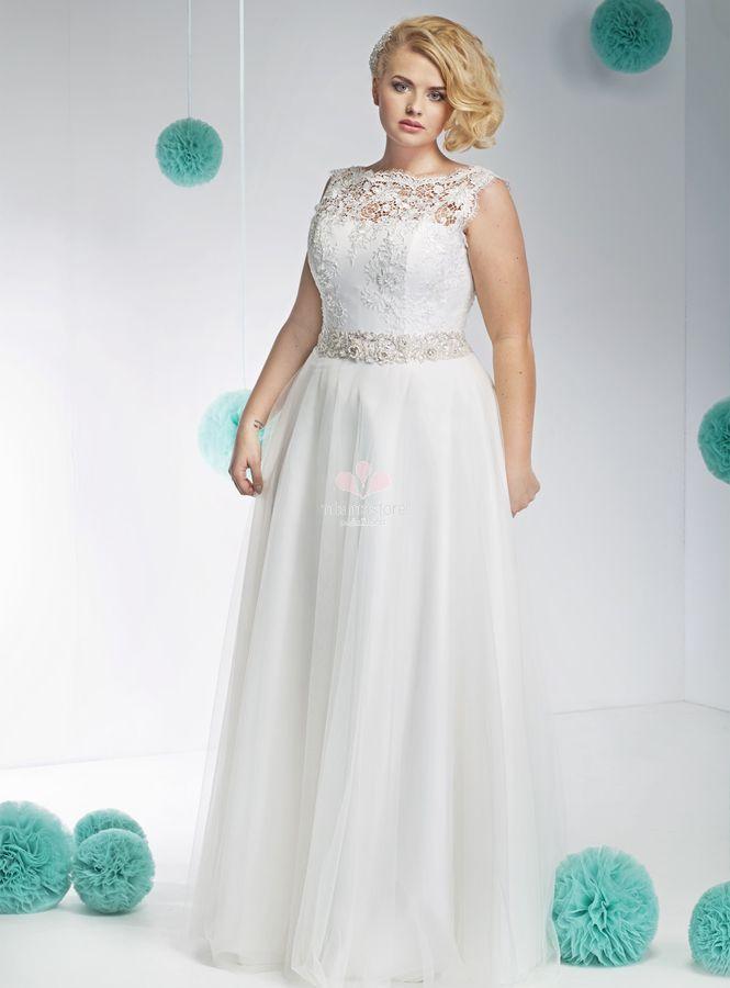 abiti-da-sposa-eleganti-online-accollato-con-corpetto-in-pizzo-e-gonna-semplice