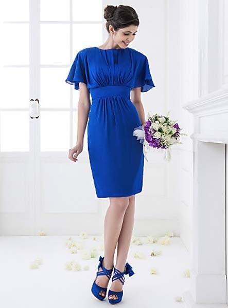 abiti-da-cerimonia-blu-corti-a-tubino-manica-corta