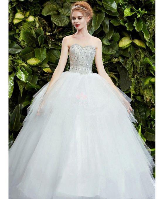 4300d4836a9e abito-da-sposa-principesco-con-corpetto-decorato-con-strass-e-punti-luce