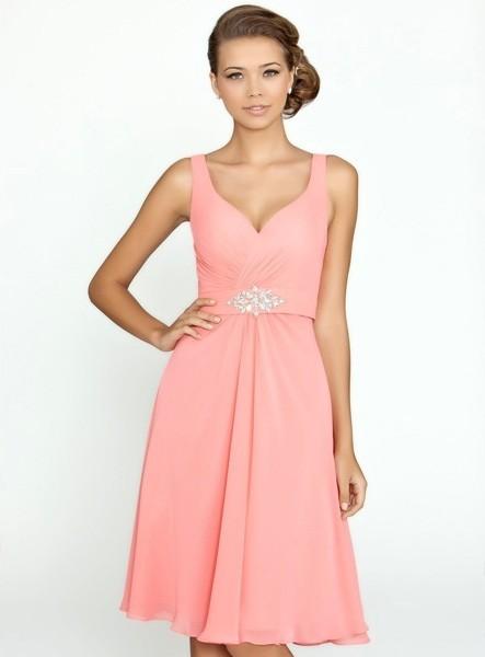 abiti-per-damigelle-corti-rosa