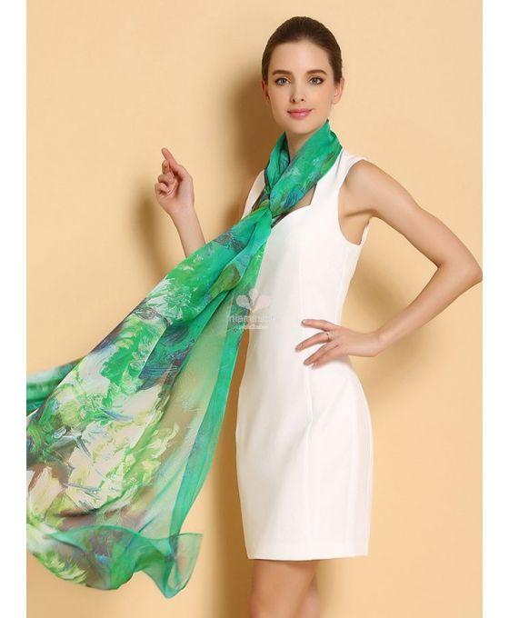new style 8ddda 1da54 stola-elegante-di-seta-verde-smeraldo-online - Blog MiamaStore