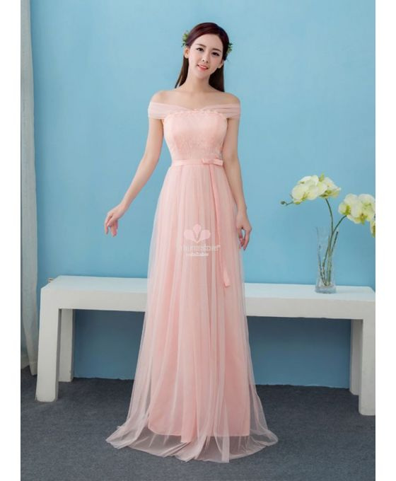 online retailer 37059 08df0 abito-per-damigella-economico-con-scollo-a-barca-rosa - Blog ...