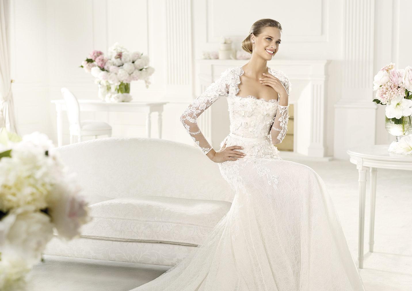 6376d4cc6946 10 Abiti da Sposa con manica a tre quarti per i matrimoni di ...