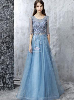 abiti-da-damigella-lunghi-azzurro