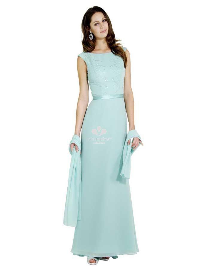 timeless design 83ae1 f3282 vestito-da-cerimonia-elegante-in-chiffon-lungo-morbido-con ...