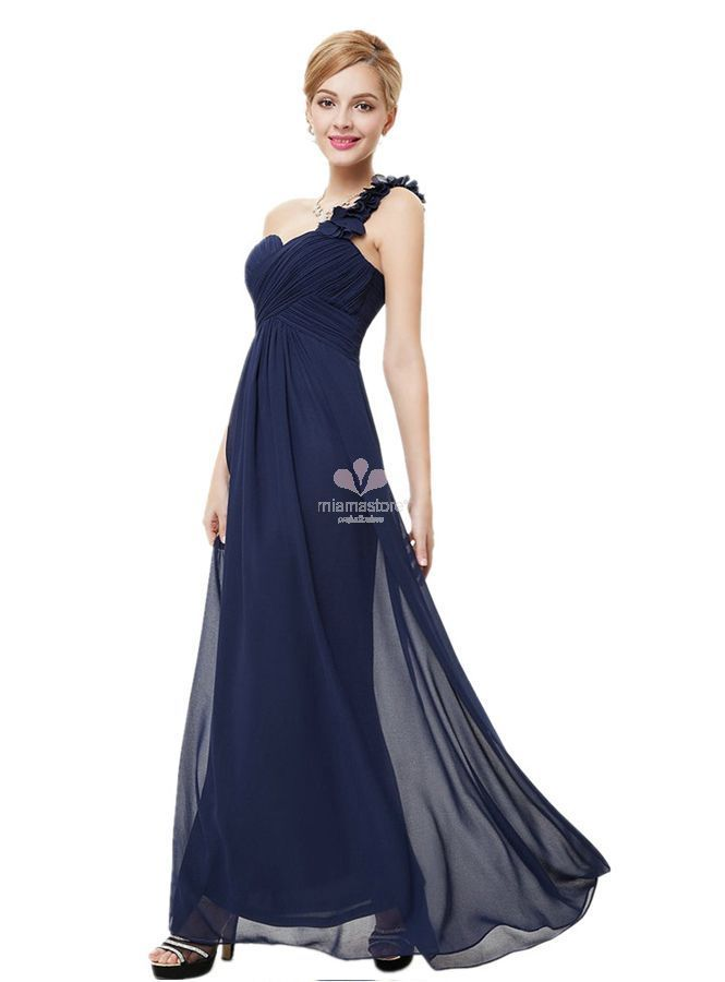 new concept ca75d 4c96c vestito-lungo-blu-per-damigelle - Blog MiamaStore