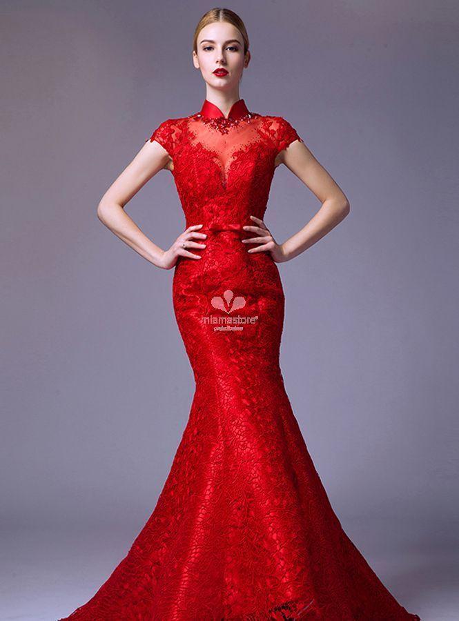 abito-da-sposa-a-sirena-rosso-accollato-di-pizzo -disponibile-in-tutti-i-colori cfdf1ed21d4