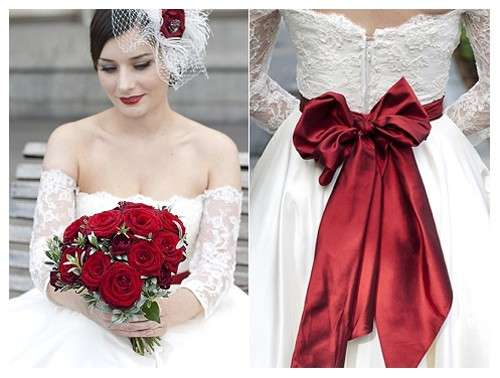 Vestiti Da Sposa Bianchi.Abito Da Sposa Rosso E Bianco Blog Miamastore